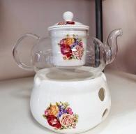 снимка на Огнеупорно чайниче с поставка