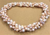 снимка на Колие от два реда естествени перли