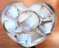 снимка на Комплект чаши с чинийки за кафе/чай