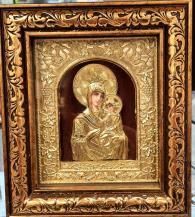 снимка на Златна икона със стъкло