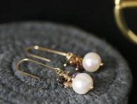 Пръстен с естествена перла