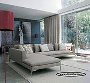 Пе-образен диван с гъши пух 180