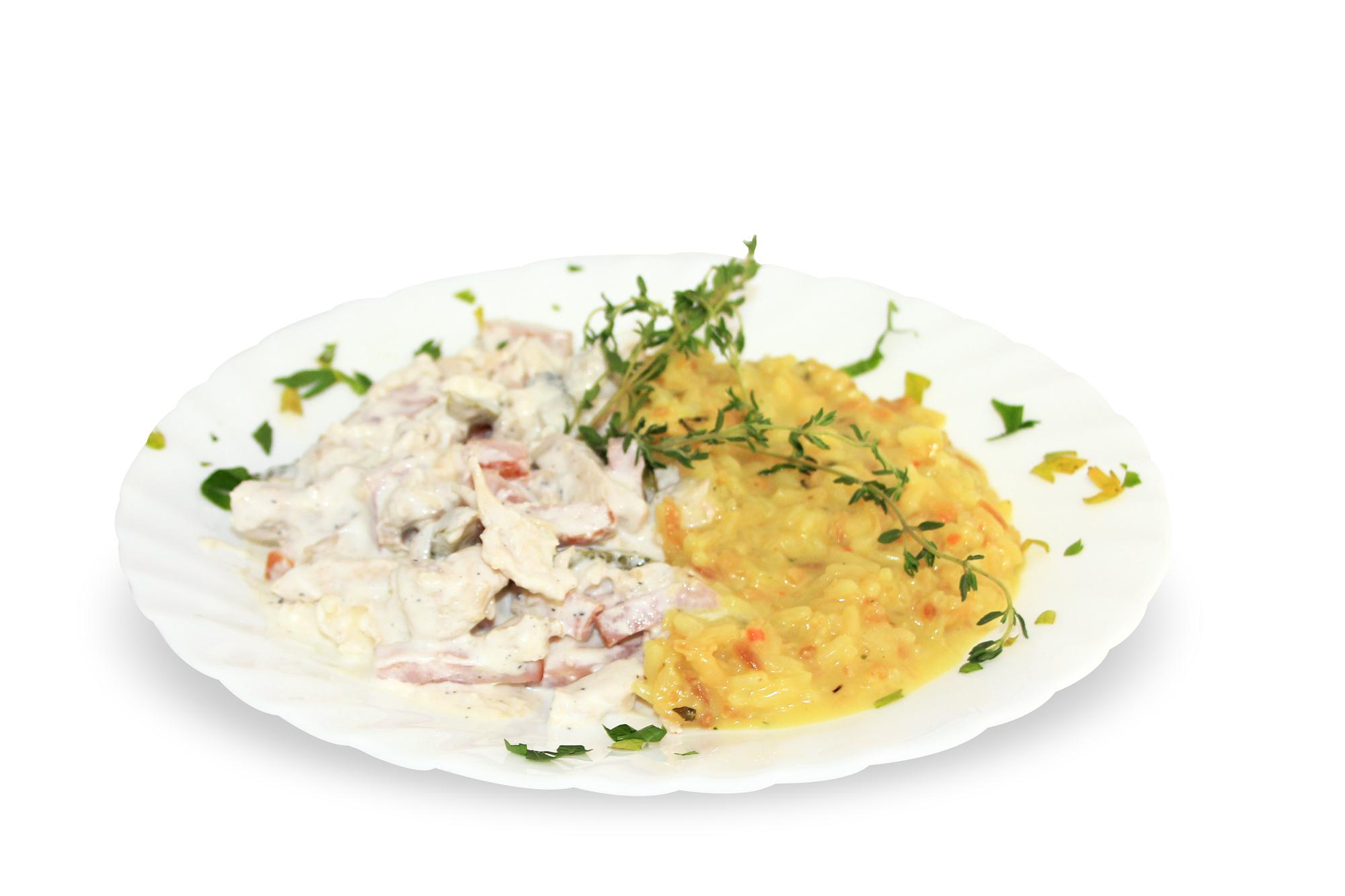 снимка на Пиле жулиен с гарнитура ориз гр.