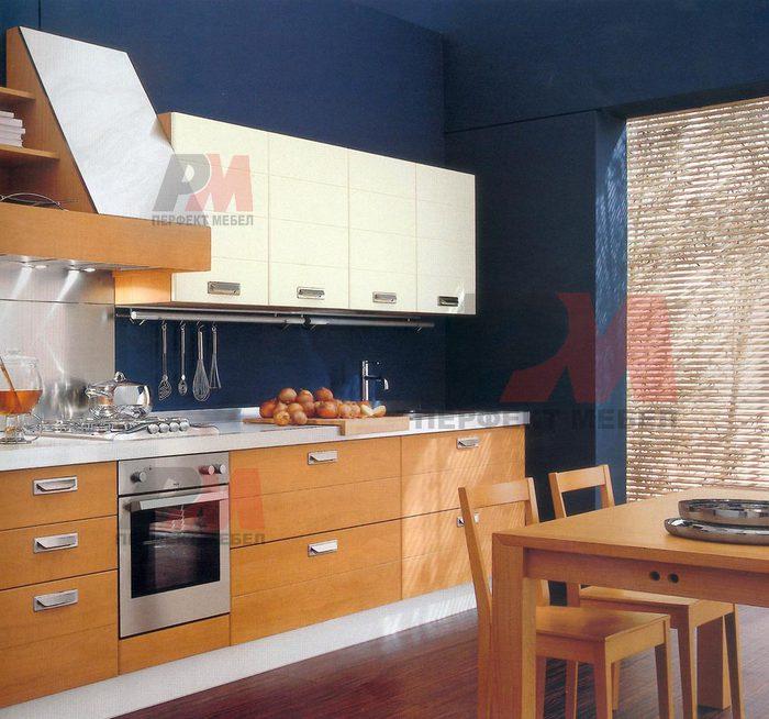 Кухненски модерни мебели с обърнат плот