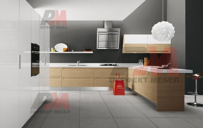 Дизайнерски мебели за модерна кухня с безплатен монтаж