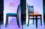 здрави дървени столове за поставяне на открито