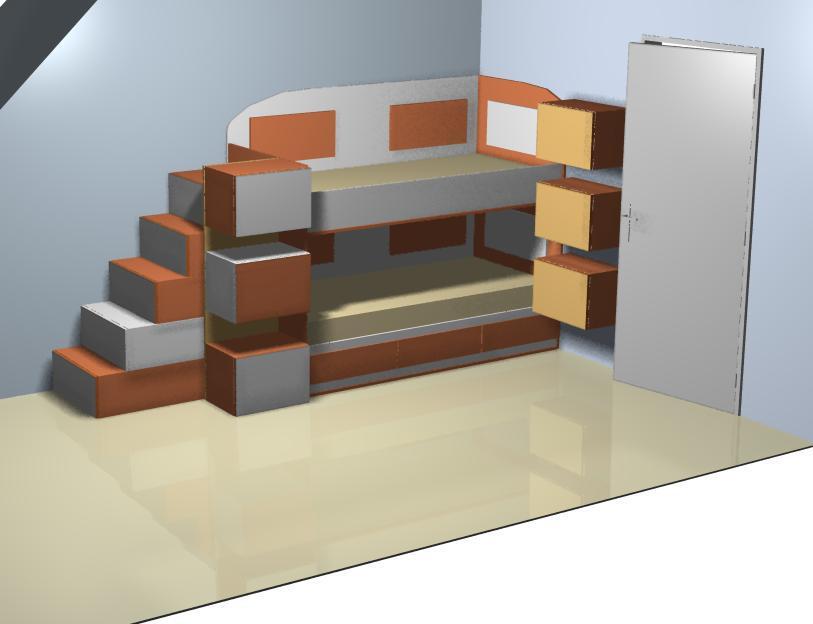 Детска стая с двуетацно легло