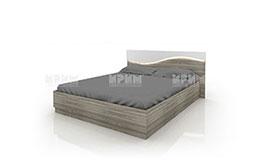снимка на Легло с ракла и чекмеджета със скосена табла