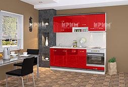 снимка на Кухня червен гланц и бяло Сити