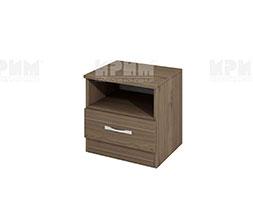 снимка на Нощно шкафче с чекмедже Сити