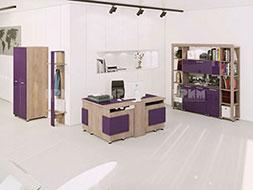 снимка на Модулни мебели за офис композиция