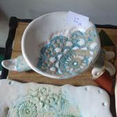Свещник керамичен Дантелите