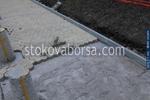 снимка на полагане на тротоарни плочки