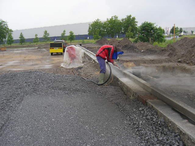 изчистване с пясъкоструйка