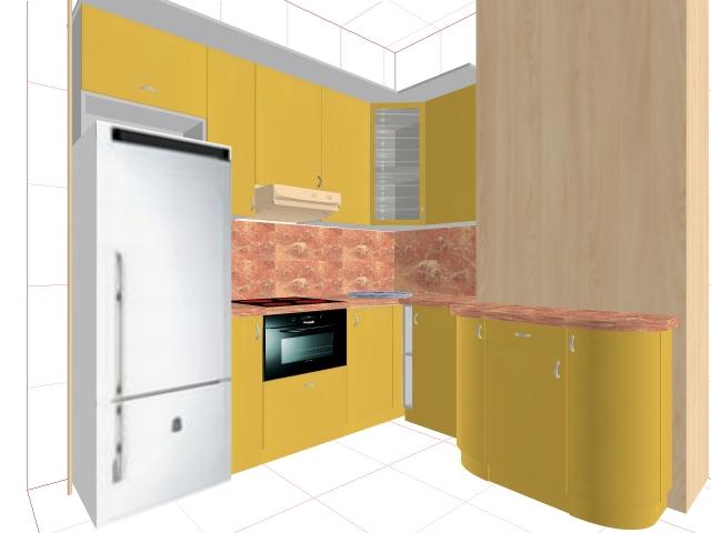 Интериор за кухня по поръчка 119-2616