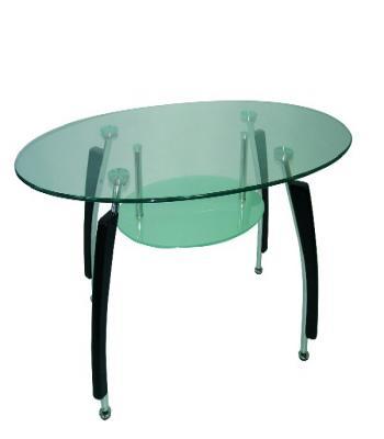 Хилна маса с плот стъкло елипса