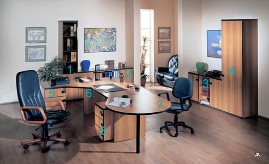Офис кабинет в бук и черно