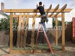снимка на Дървени перголи детски площадки, паркове и градинки