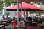 снимка на чадъри за градински заведения по поръчка