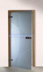 стъклена врата с едно крило