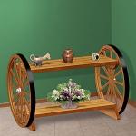 маси с дървени колела от каруца