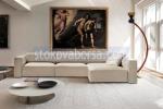 снимка на голям ъглов дизайнерски диван