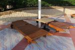 Дървени шезлонги,изработени от бук по поръчка