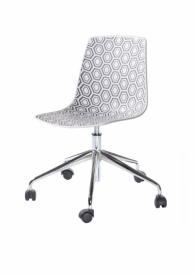 Офис стол в бяло и сиво