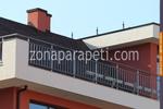 поръчков алуминиев парапет за тераси