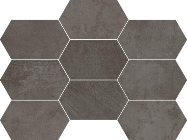 Гранитогрес декор HUP UPGRADE FACTORY ESAGONI 15 ANTRACITTE 30x45