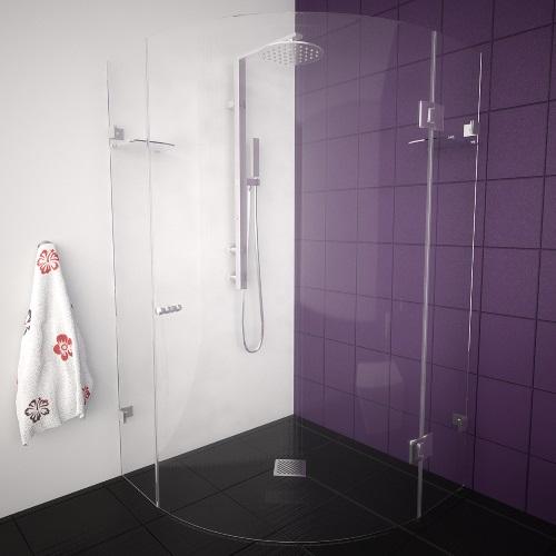 снимка на ATTRACTIVE  овална душ кабина  мм различни размери