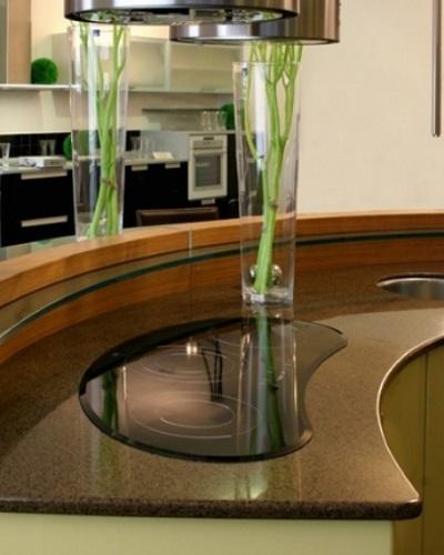снимка на Овален плот за кухня