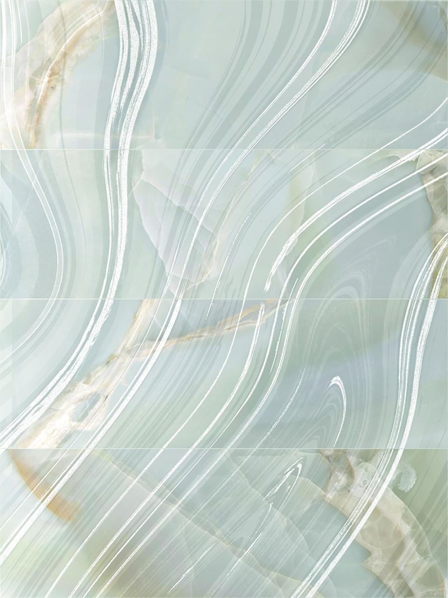снимка на Декор плочка за баня SELENE AURORA SKY LEFT BRILLOMATE x