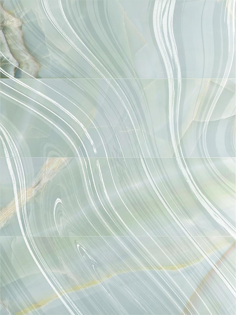 снимка на Декор плочка за баня SELENE AURORA SKY RIGHT BRILLOMATE x
