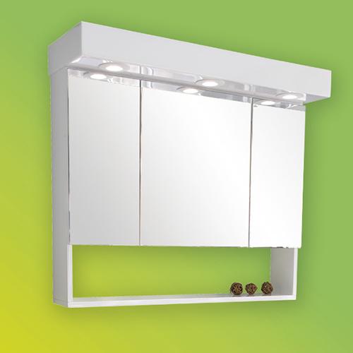 снимка на Мебел за баня – горен огледален шкаф Мира