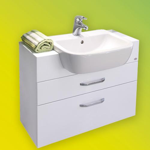 снимка на Мебел за баня – долен шкаф Мира с чекмеджета