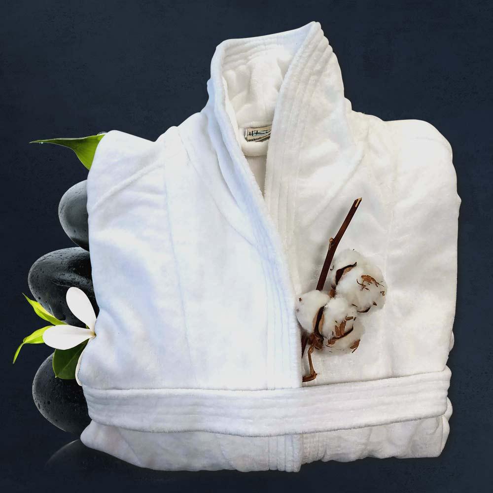 снимка на Халат за баня в бял цвят